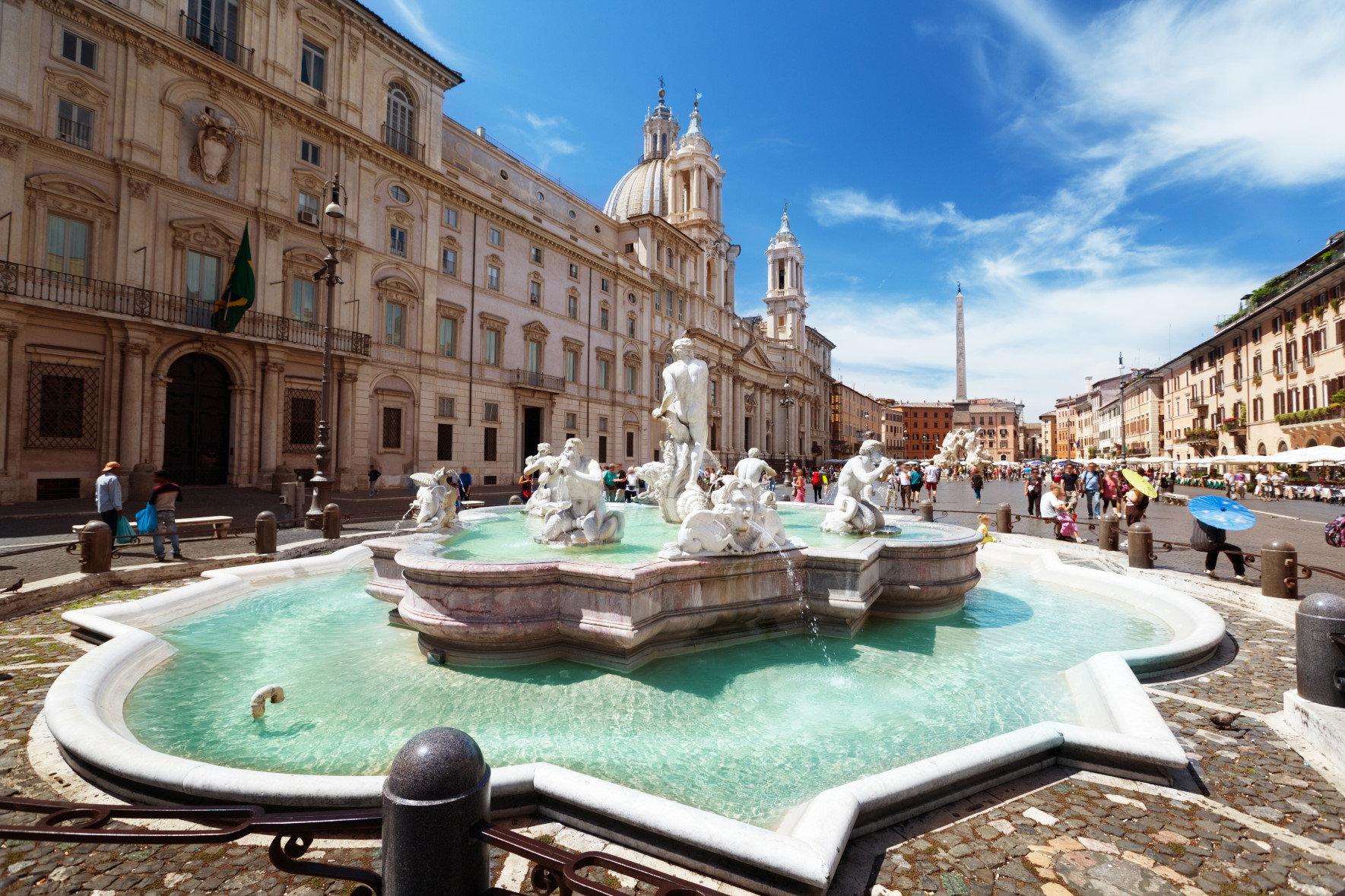 Bir Günde Roma - Navona Meydanı ve 4 Mevsim Çeşmesi