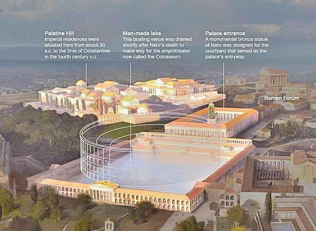 Kolezyum'un üzerine inşaa edildiği alan: Nero'nun yapay göleti