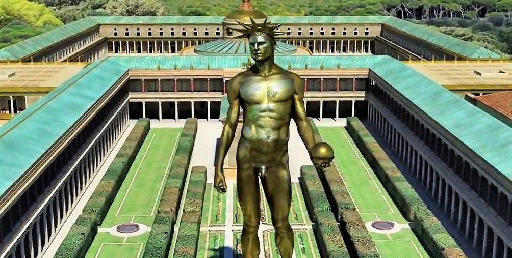 Domus Aurea: Nero'nun Altın Sarayı.