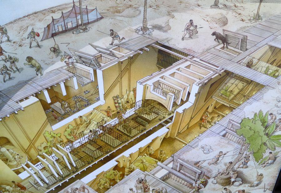 Kolezyum'un Yer Altı Yapısı - Yeniden Çizim
